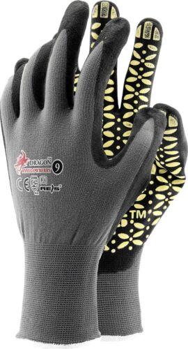 3 Paar Schutzhandschuhe Montagehandschuhe Noppen Nitril Handschuhe EN420