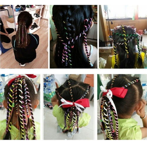 Kids Girls DIY Hair Styling Braiding Spiral Curlers Rollers Head Dress Band FO