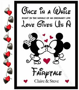 Details About Personalised Anniversary Gifts For Him Her Wife Boyfriend Mrs Mr Disney A4