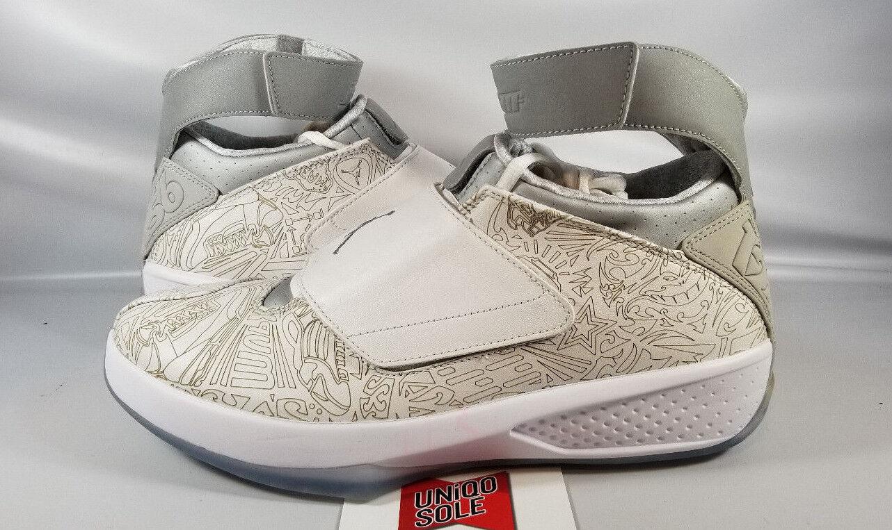 designer fashion d5e17 a34a8 Nike Jordan Retro XX 20 LASER Air Blanco Plata Plata Plata Sigilo Negro  743991-100