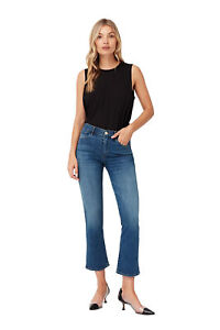 3X1 Women Cropped Jeans Mid Rise Boot Cute Slim Fit Denim Bell Buttom High Waist