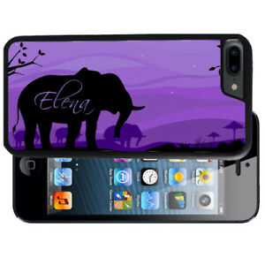 Personalized-Case-Fits-iPhone-XR-XS-MAX-X-8-7-6s-Plus-Purple-Elephant-Animal