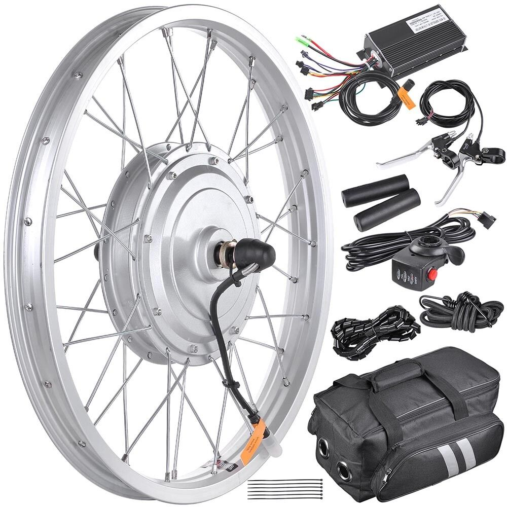 36V 750W 20  Front Wheel Tire Electric Bicycle eBike Conversion Kit w Motor