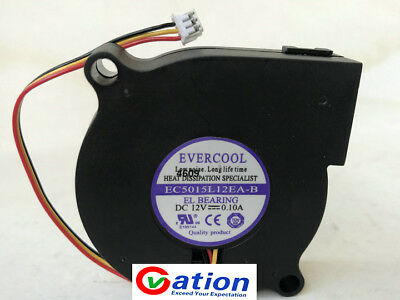 EVERCOOL EC5015H12E-B Humidifier fan DC12V 0.18A 2wire