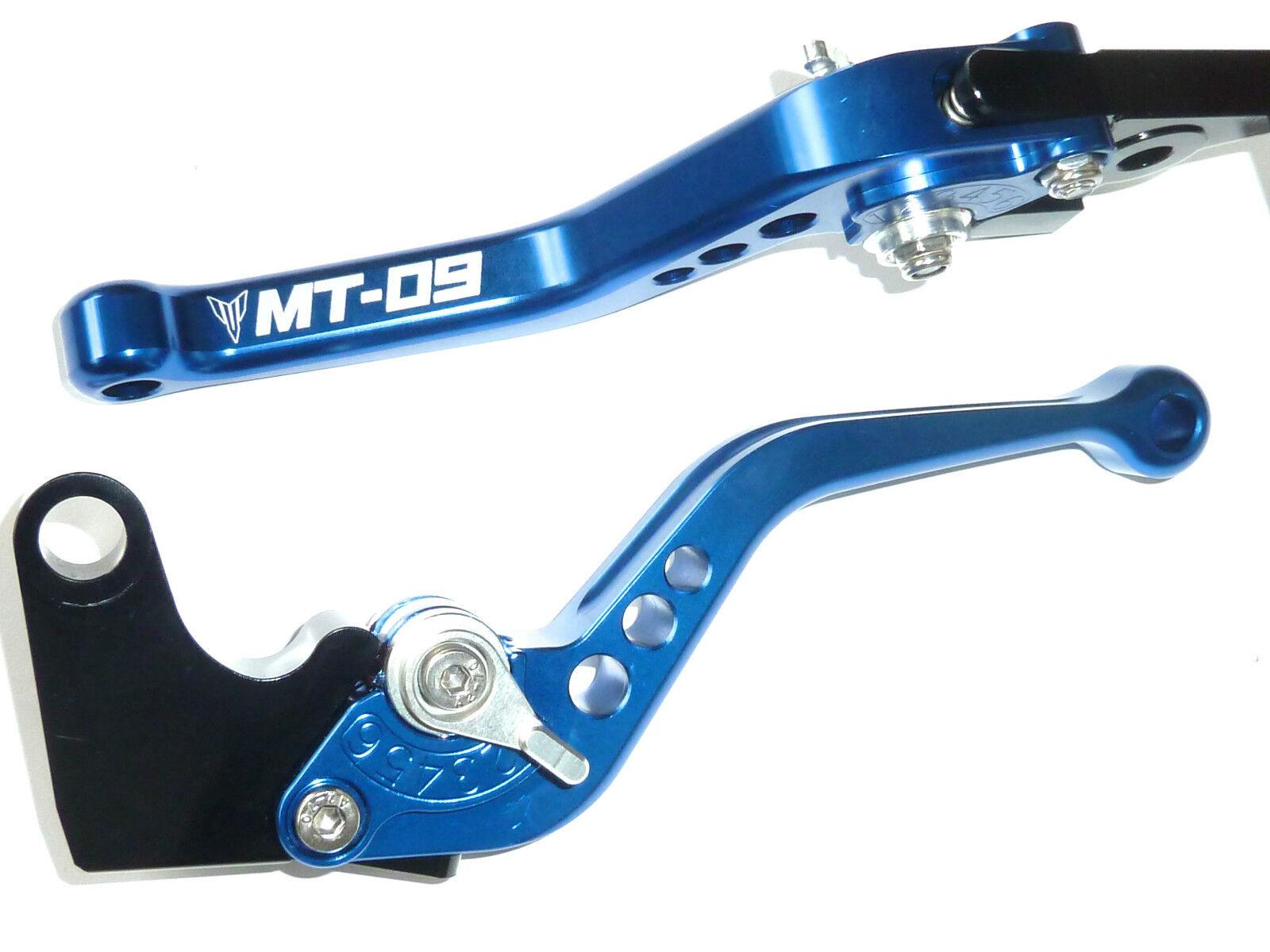 Yamaha Mt-09 Kurz Blaue Brems- & Kupplungshebel Satz Race Track Geprägt R15c5