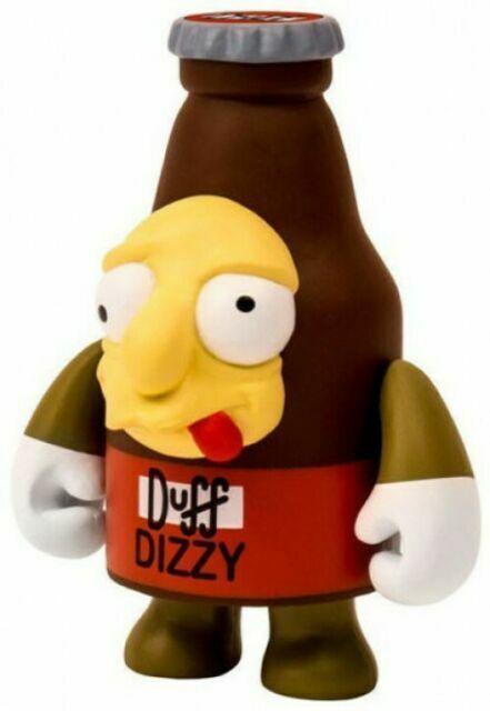 "DUFF DIZZY 3/"" DESIGNER VINYL MINI FIGURE BY KIDROBOT THE SIMPSONS"