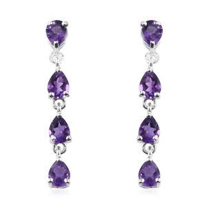 Girls-Amethyst-925-Sterling-Silver-Long-Dangle-Drop-Earrings-Jewelry-Ctw-1-2