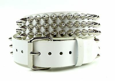1 Row Conical Stud Leather Belt Rock Goth