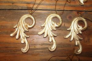 Details Zu 3er Set Goldene Hochzeit Anhänger Shabby Vintage Gold Deko Weihnachten Ornament