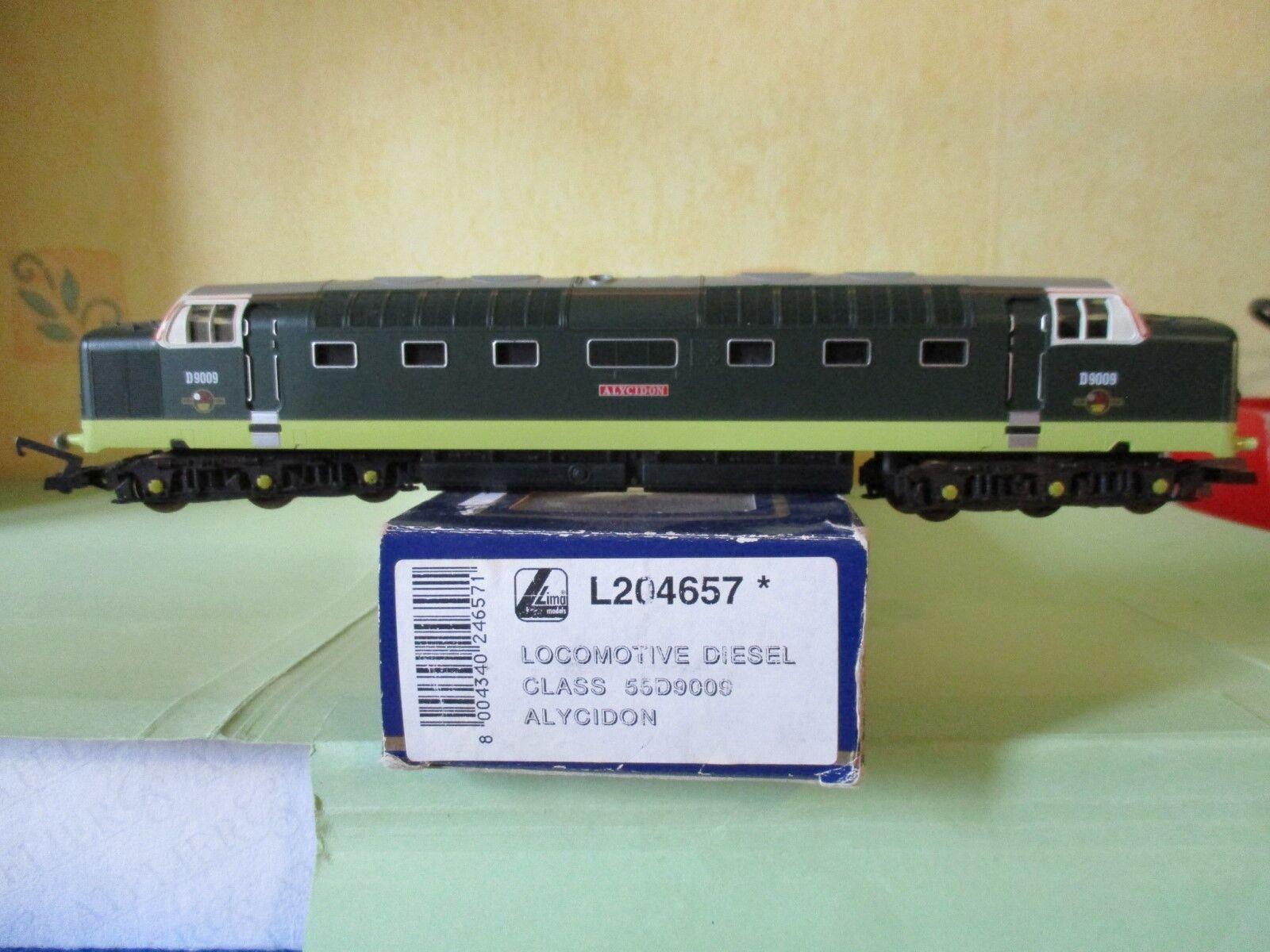 LIMA locomotive diesel classe 55 D9009 ALYCIDON en boite éch HO réf L204657