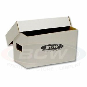 case of 10 record album cardboard storage boxes for 45 rpm records white ebay. Black Bedroom Furniture Sets. Home Design Ideas