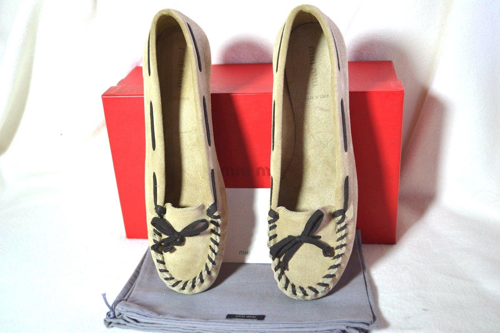 PRADA MIU MIU Schuhe Schuhe Pumps UK Heels Mokassin Leder 35,5 UK Pumps 2,5 NEU NEW 314121