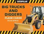 Big Trucks and Diggers Flash Cards From a to Z - Caterpillar Hardcover 28 11