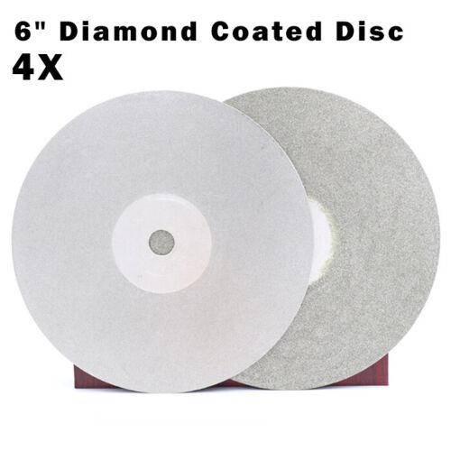 "4Pcs 6/"" 600#//800#//1200#//3000# Grit Diamond Coated Flat Laps Wheel Grinding Disc"