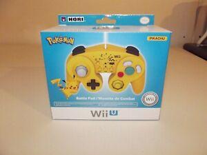 HORI-Battle-Pad-Pokemon-Pikachu-w-Turbo-Nintendo-Wii-U-Controller
