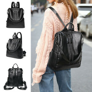 Women-Travel-PU-Leather-Backpack-Handbag-Shoulder-School-Bag-Satchel-Rucksack