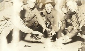WWI Org AZO RPPC- Cavalry- Pistol- Gambling- Craps- Camp MacArthur- Waco Texas