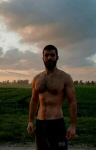 beautiful hairy chested young men