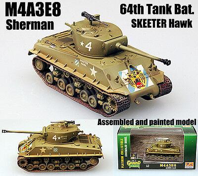 Skeeter Hawk listo modelo 1:72 tanques Easymodel m4a3e8 Middle Tank 64th Tank Bat