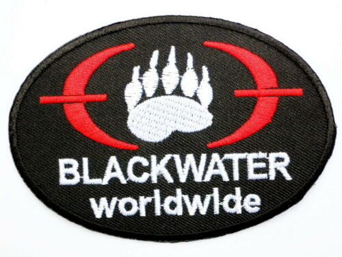 Special Forces BLACKWATER Security Iron On Sew On Embroidered Jacket  Patch