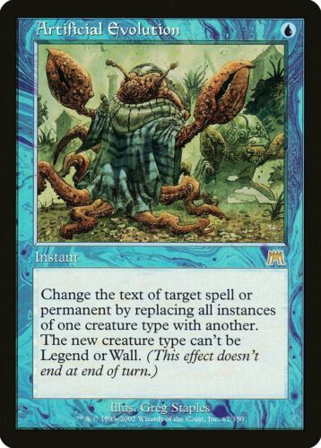 Artificial Evolution Onslaught NM Blue Rare MAGIC THE GATHERING CARD ABUGames
