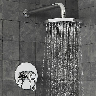 Concealed Shower Mixer Valve Round Wall Mounted Shower