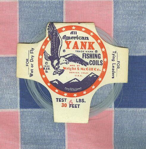 NOS Vintage Fishing Wright McGill All American Yank Fishing Coils 6 lb 1930 Copy