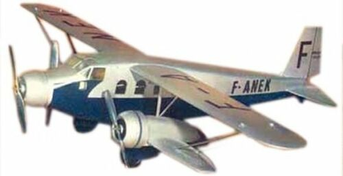 393T Breguet France Airliner Airplane Mahogany Kiln Dry Wood Model Small New