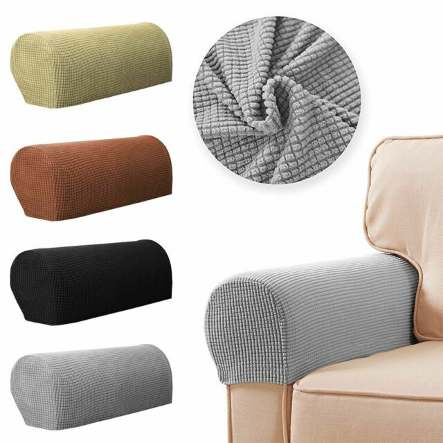 2pcs Stretch Armrest Covers Set Chair, Furniture Arm Covers