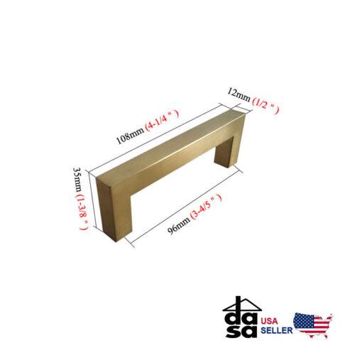"Brushed Brass Square Cabinet Pulls Gold Drawer Handles Knobs  Ø1//2/"""