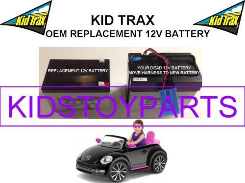 VW BEETLE OEM REPLACEMENT KID TRAX 12 VOLT LEAD ACID BATTERY