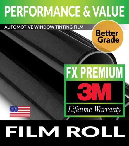 "3M FX-PREMIUM 15/% VLT 30/"" x 78/"" WINDOW TINT ROLL 76.2cm x 198.12cm"