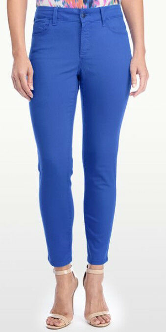 NYDJ Not Your Daughters Jeans CLARISSA Skinny ANKLE pants OLYMPIA bluee 6 or 14