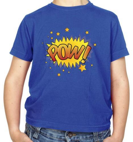 POP ART-GRAPHIC NOVEL-EROI SUPEREROI POW Kids T-Shirt-FUMETTI-COMICS