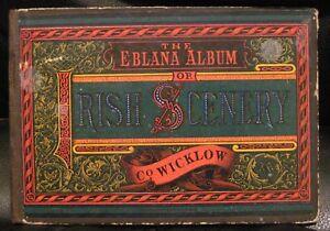 Victorian Travel EBLANA ALBUM of Irish Scenery WICKLOW Litho Prints Ireland 4x6