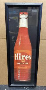 Vintage framed Hires rootbeer Sign 28x10