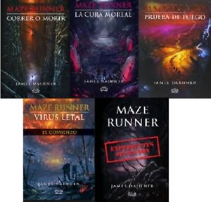 Saga-Correr-O-Morir-Maze-Runner-Spanish-Edition-by-James-Dashner-5-libros