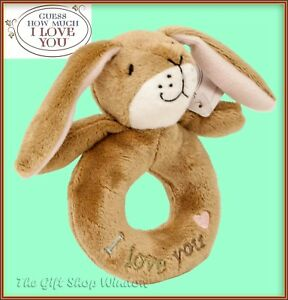 GUESS-HOW-MUCH-I-LOVE-YOU-HARE-NUT-BROWN-PLUSH-LOOP-RING-RATTLE-BABY-GIFT-TOY