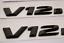 V8 BITURBO Trunk Emblem Badge Sticker for Mercedes Benz black CLS 63 S AMG