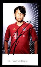 Takashi Usami Autogrammkarte Bayern München 2011-12 Original Signiert+ C 2653