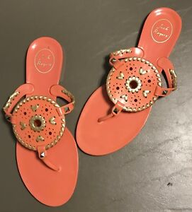 eb27ac6de4958 Image is loading Womens-Jack-Rogers-Georgica-Jelly-Medallion-Sandals-Coral-