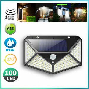 100-LED-Solar-Wall-Light-Motion-Sensor-Outdoor-Waterproof-Garden-Yard-Patio-Lamp