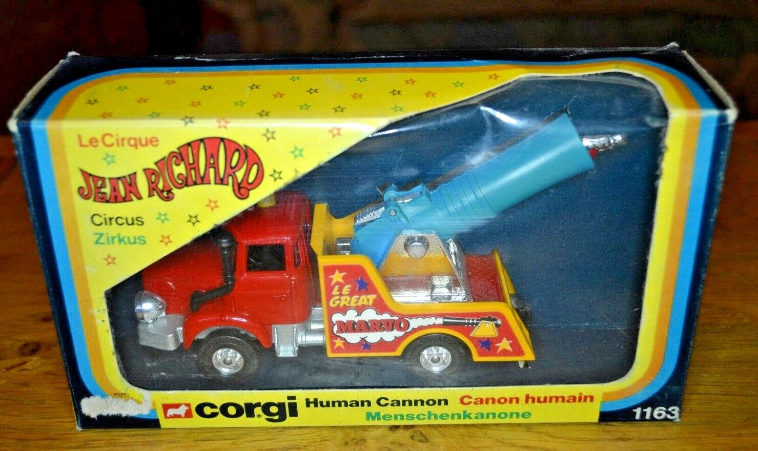 Vintage Corgi Human Cannon Jean Richard Circus No 1163