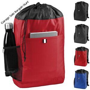bbf951e8f344 Details about Large Cinch Sack Drawstring Hybrid Backpack Bag