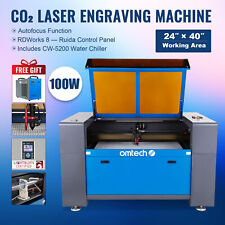 Omtech 100w 24x40 In Co2 Laser Engraver Cutter Etcher With Cw5200 Water Chiller