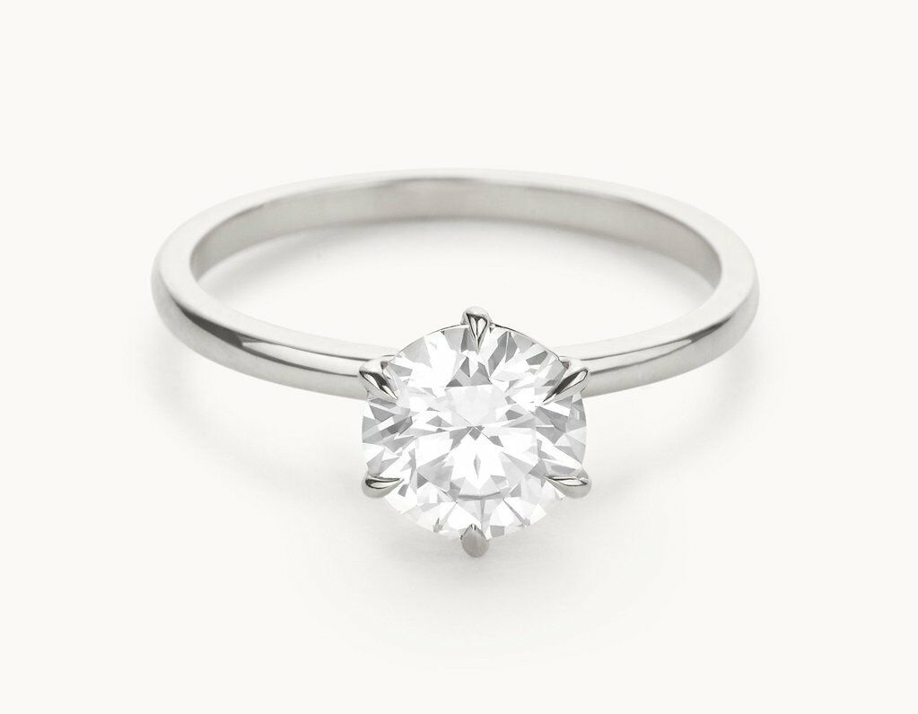 6995eb161 Ct VVS1 Cut Bridal Moissanite Wedding Ring 14K Solid White gold Rings 1.00  Round pqpgvz7349-CZ, Moissanite & Simulated