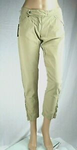 Pantaloni Donna MET Jeans Made in Italy C265 Beige Gamba Dritta Tg 25 27 31