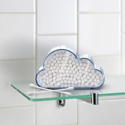 Portable Cloud Catcher Cotton Swab Holder Bath Accessory Storage Cute Bud Holder
