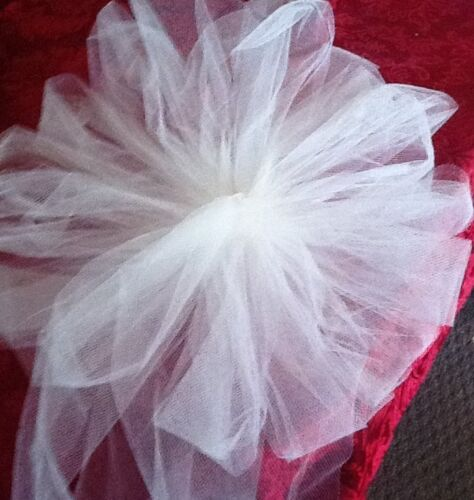 12 IVORY Tulle Pew Bows RUSH ORDERS AVAILABLE
