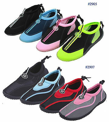 Quality In New Womens Slip On Water Shoes/aqua Socks/pool Beach Yoga Dance Exercise,colors Excellent